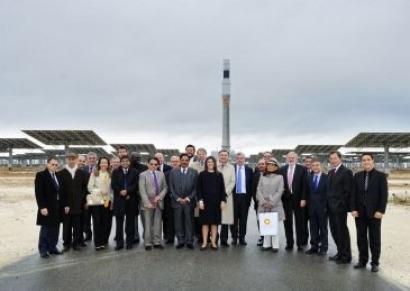 La diplomacia visita la termosolar española