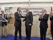 Fabra inaugura la primera central termosolar de la Comunidad Valenciana